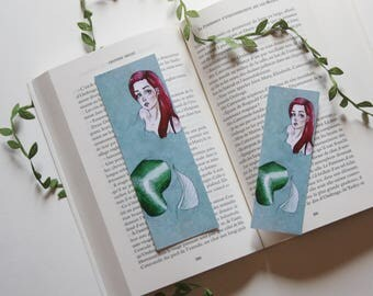 Bookmark Art drawing print, Mermaid mermaid disney princess, Ariel illustration mark page, the little mermaid
