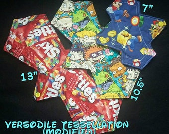 "Characters (TV, Film, Comics, Disney, etc.) / CUSTOM / Made To Order Cloth Pad or Liner // Mod. Versodile Tessellation (2.75"" Gusset Width)"