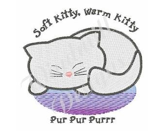 Soft Kitty, Warm Kitty - Machine Embroidery Design