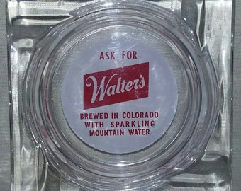 Vintage Ashtray. Walter's Brewery Collectable Ashtray. Tobacciana Collectable.