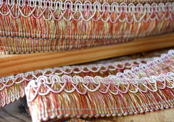 Upholstery Tassel Trim Tape Fringe/dusty Pink Tape Trim