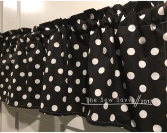 Premier Prints Polka Dots Valance Curtain - you choose your colors
