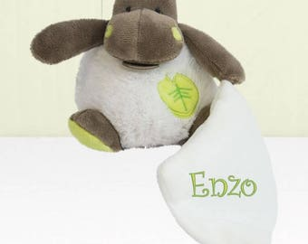 Doudou to personalize embroidered with baby's name