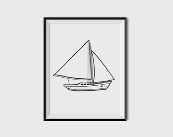 Sail Away - Printable/Downloadable Art