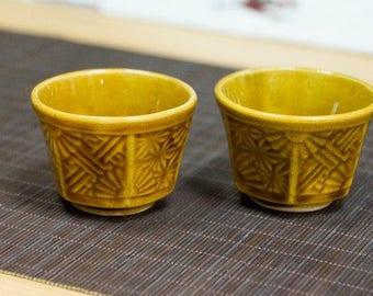 Japanese ceramic tea cup in Seto style