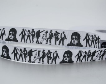 """Michael Jackson Musician Inspired Grosgrain Ribbons 7/8"""""""