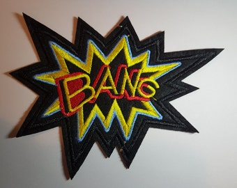 BANG Comic book style Iron on Sew On Patch