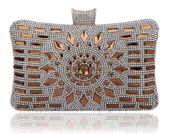 Luxury Gold Crystal Evening / Prom / Clutch Bag