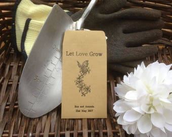 10 x Personalised Wedding Favour Seed Packets  - 'Let Love Grow - Butterfly'