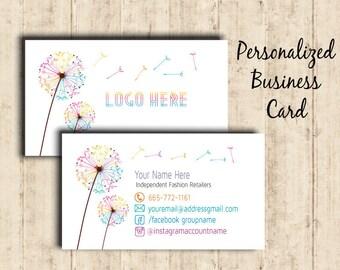 LLRoe Business Cards Home Office Approved Colors Digital - Dandelion Design
