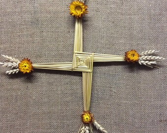 St Brigid's Cross - Patron saint - Religious gift - Spiritual gift - Irish - Celtic - Imbolc - Wiccan gift - Corn dolly