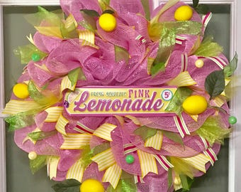 Pink Lemonade Wreath