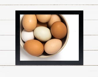 "INSTANT DOWNLOAD eggs in bowl 8"" x 10"" printable"