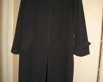 Vintage Larry Levine Gray Lambswool, Cashmere Blend Coat Size 12
