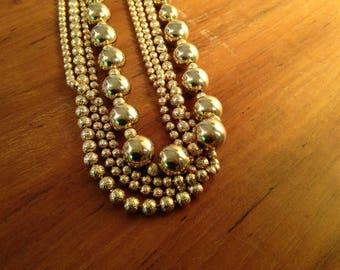 Vintage Multi Chain Gold Necklace