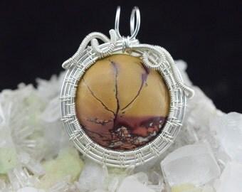 Jasper Wire silver plated copper wire Wrap pendant