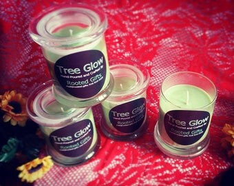 Tree Glow Candles, Holiday Candles, Scented Container Candles
