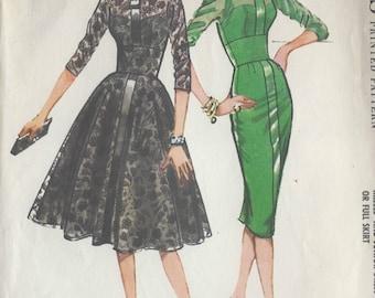"1958 Vintage Sewing Pattern DRESS B38"" (R488) McCalls 4773"