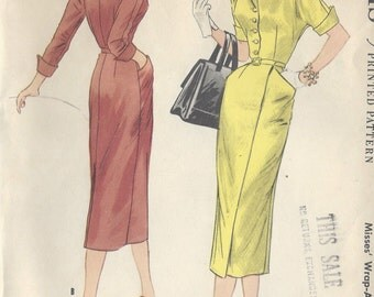 "1955 Vintage Sewing Pattern DRESS B34"" (R62) McCall's 3294"