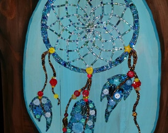 Dream Catcher in Beads & Buttons