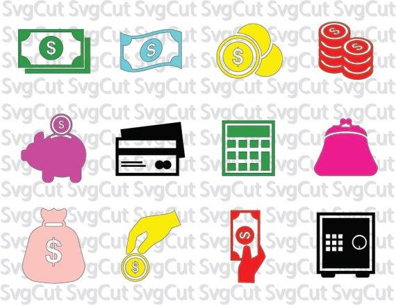 Download Money svg Dollar bills Vallet Calculator cut file Money