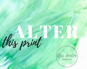 Altered Print Design