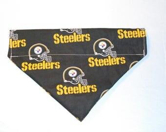 Pittsburgh Steelers Over-Collar Dog Bandana