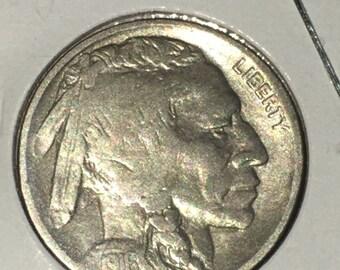 1916 Buffalo Nickel, Indian Head, 5c, Philadelphia Mint
