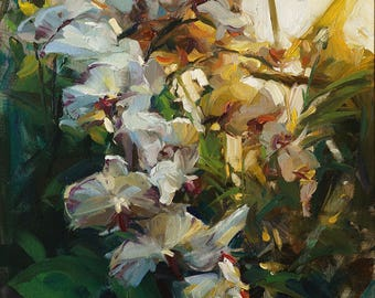 Print On Canvas -- Orchid Flowers/Orchids