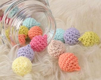Crochet balls, Handmade balls, Soft ball, Small stuffed ball,Home decor,Accessory supplies, Party decor,garland,craftsupplies,ribbonnkids