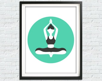 Meditation Room, Yoga Print, Yoga Poster, Yoga Wall Art, Namaste Print, Meditation Art, Yoga Gft, Yoga Wall Decor, Meditation Print