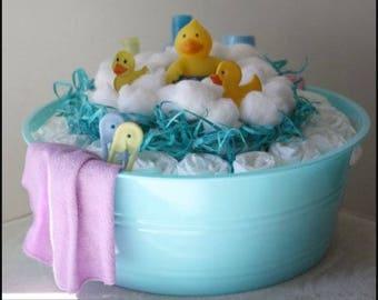 Diaper cake bath tub