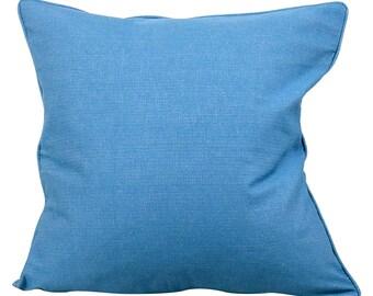 Indigo Blue Linen Blend 20 Inch Lumbar Decorative Pillow Cover