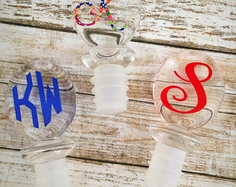 Monogrammed Wine Stopper/Personalized Wine Cork/Personalized Gift/Lilly Inspired Gift/Monogrammed Gift/Wine Stopper/Bridal Party Gift