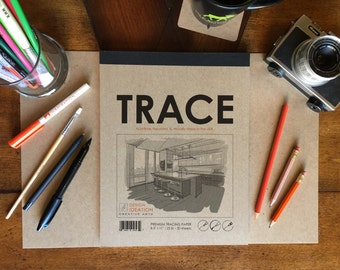 Premium Paper Tracing Pad for Pencil, Ink and Marker. Great for Art, Design and Education.