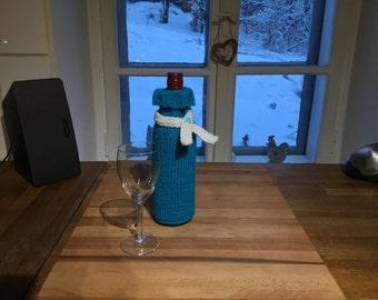 Knitted wine bottle sweater