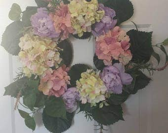 Spring wreath / hydrangea wreath / front door wreath / holiday wreath / door wreath / summer wreath
