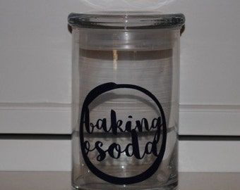 31 ounce Glass Jar 'Baking Soda'