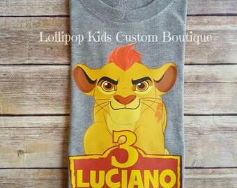 Lion Guard short sleeve grey birthday shirt