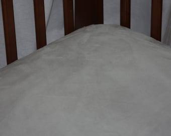 Minky Crib Sheet- Grey Minky