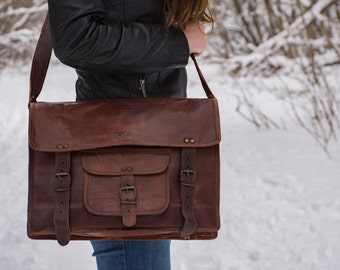 Rustic Leather Messenger Travel bag - 1920's Vintage inspired Leather Handmade bag/CarryOn/Briefcase/Sale/Hiking/Mountains/Adventure