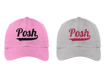 Glitter Posh Hat, Posh Cap, Posh Hat, Perfectly Posh