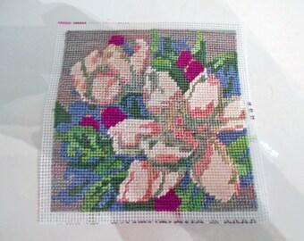 Beautiful Magnolias Cross Stitch  5 1/2 x 5 1/2 inches