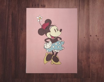 Minnie Mouse Disney Art Painting