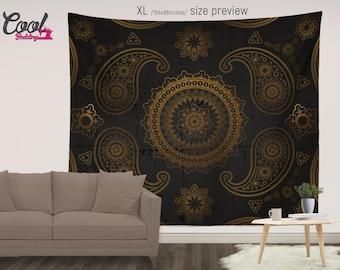 Royal Mandala Tapestry, Mandala Tapestries, Wall Tapestry Hanging, Bohemian Tapestries, Boho Decor, Sofa Throw, Bedspread