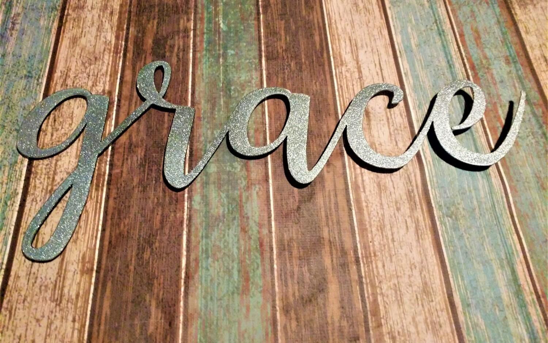 Grace sign farmhouse wall decor grace wall art rustic word sign 1 amipublicfo Gallery