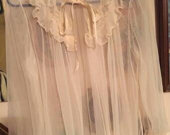 Vintage cream colored robe
