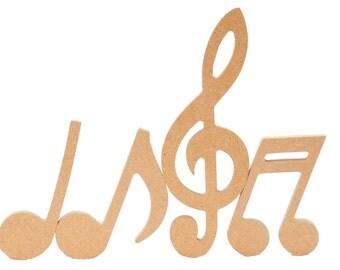 Unfinished Musical Notes Set