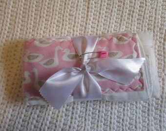 2 Pack Pink Geese Burp Cloth