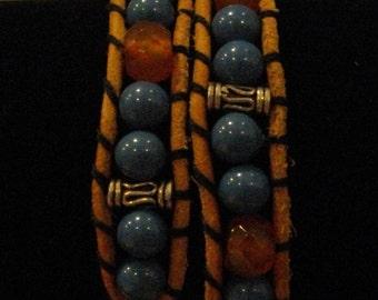 Leather Wrap Around Bracelet